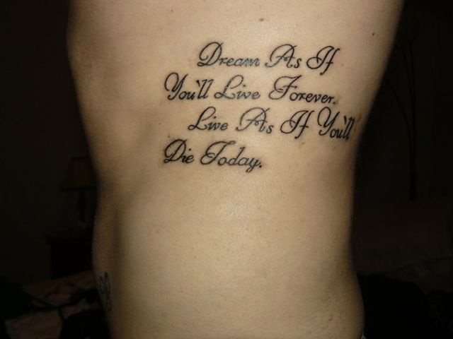 Small Tattoo Sayings For Girls