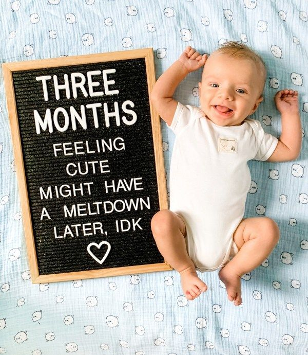 Baby Letter Board Ideas: Newborn - 3 Months | Baby letters ...