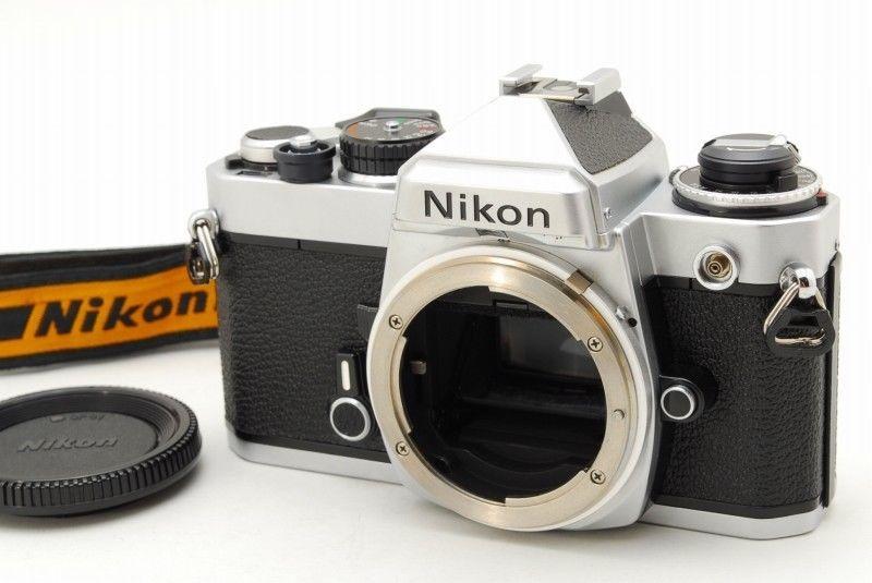 Excellent Nikon Fe 35mm Slr Film Camera Body Wstrap From