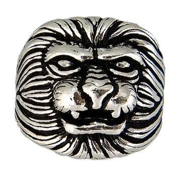 Lion Face Sterling Silver Unisex ring by jewelkingthai on Etsy, $27.00