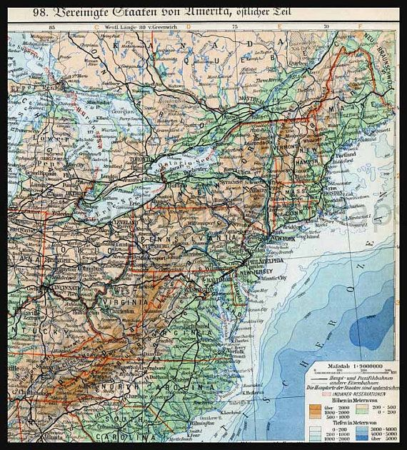 Old Map Of The East Coast United States Antique Maps Pinterest - East coast united states map