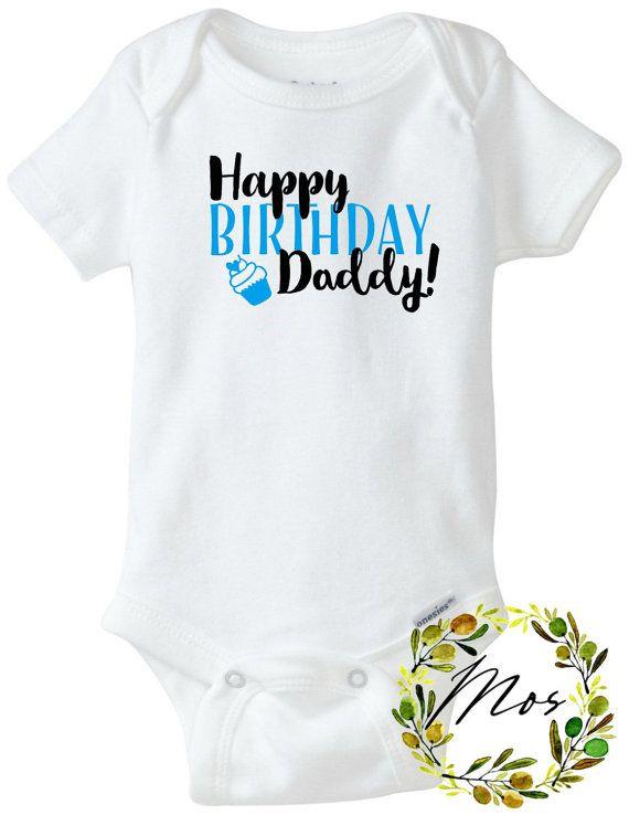 Feliz cumpleaños papá Body de bebé por ModernOliveStudio en Etsy ... 31e0446bd41