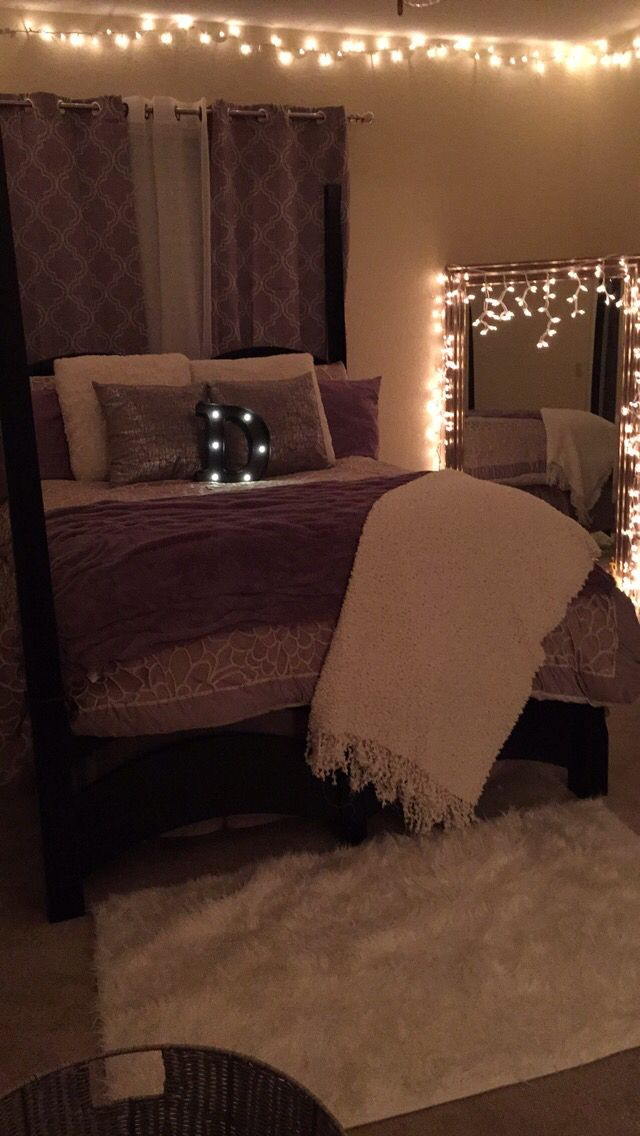 my apartment ) #christmaslights #bedroom #decorate #decorations