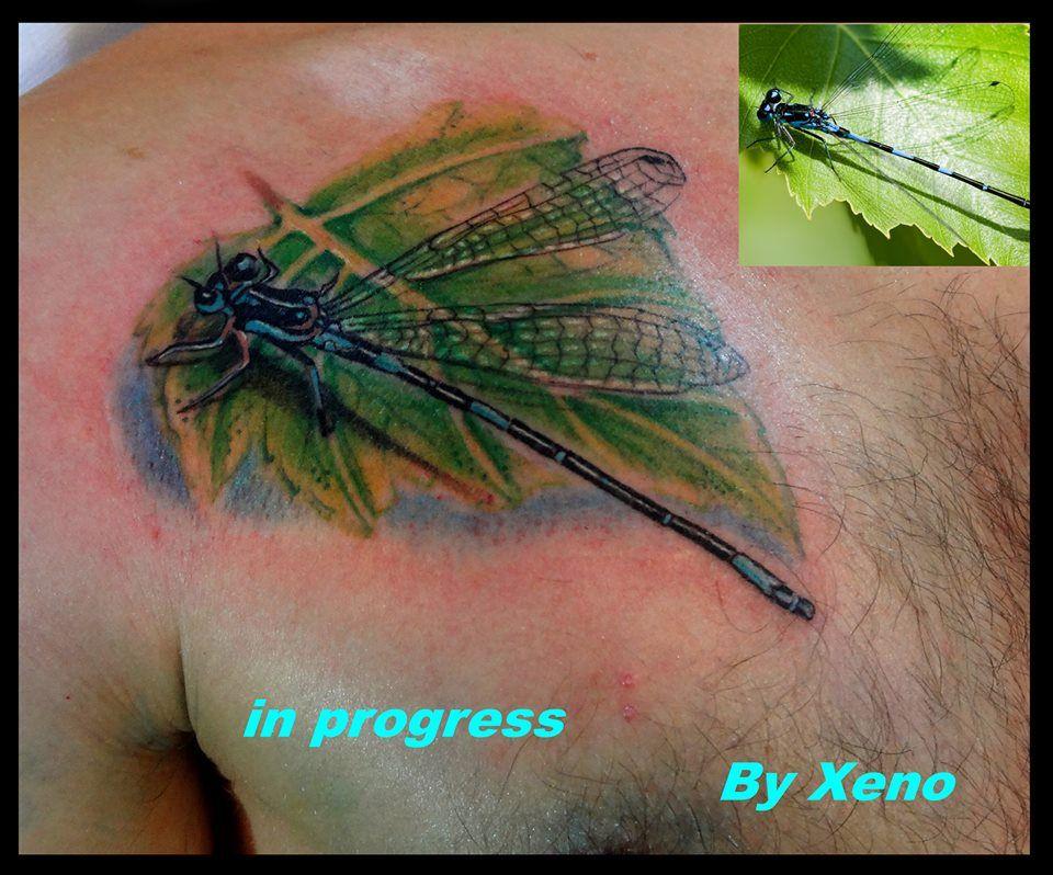 Henna Tattoo Zagreb : Dragonfly by xeno ink tattoo studio zagreb croatia in