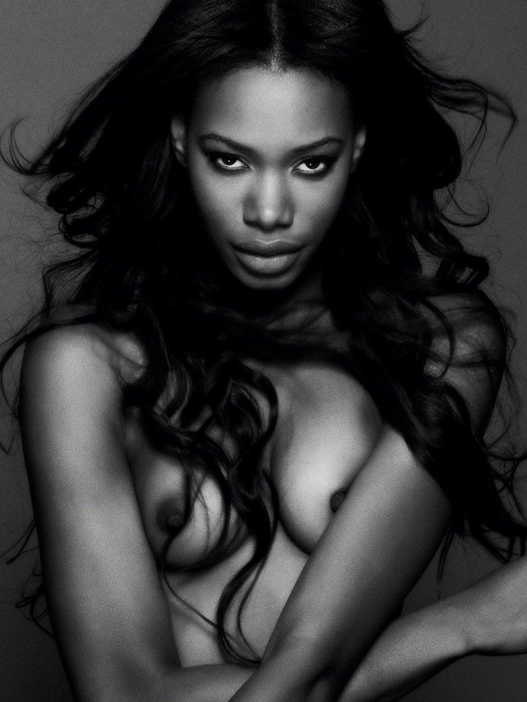 Beautiful nude black models