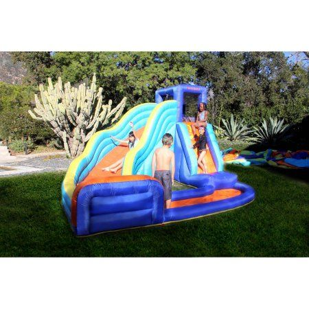sportspower outdoor big wave inflatable water slide products rh ar pinterest com