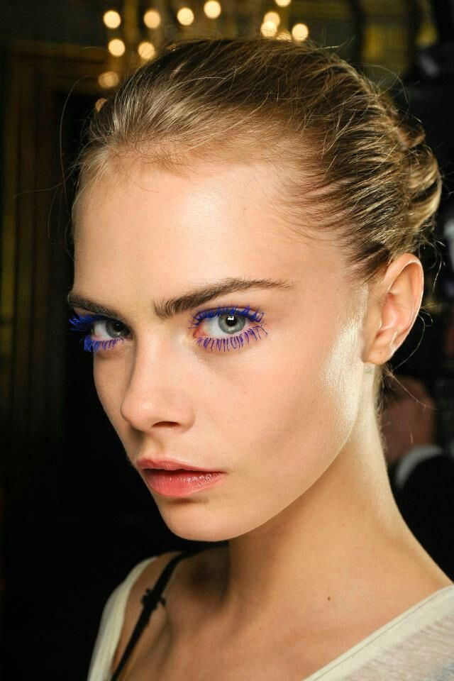 Purple Rímel, Eyelashes, Colourful - Cara Delevingne