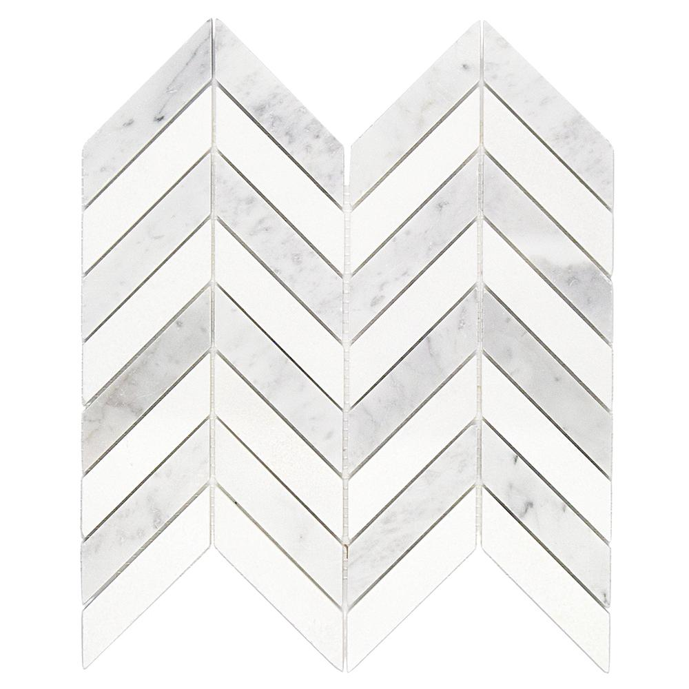 ivy hill tile dart white carrara and