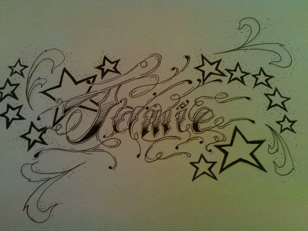 tatto designs with peoples names name tattoo by tattoojamie on