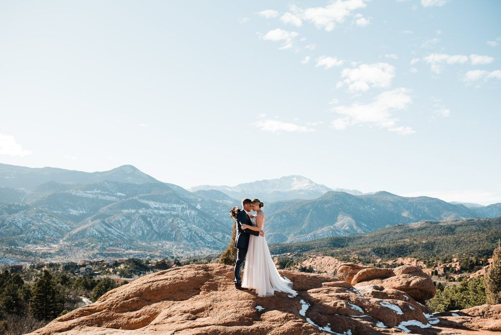 Wedding Photos At High Point At Garden Of The Gods In