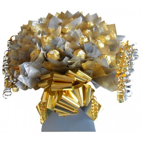 How To Make Chocolate Flower Basket : Free candy bouquet instructions how to make a ferrero