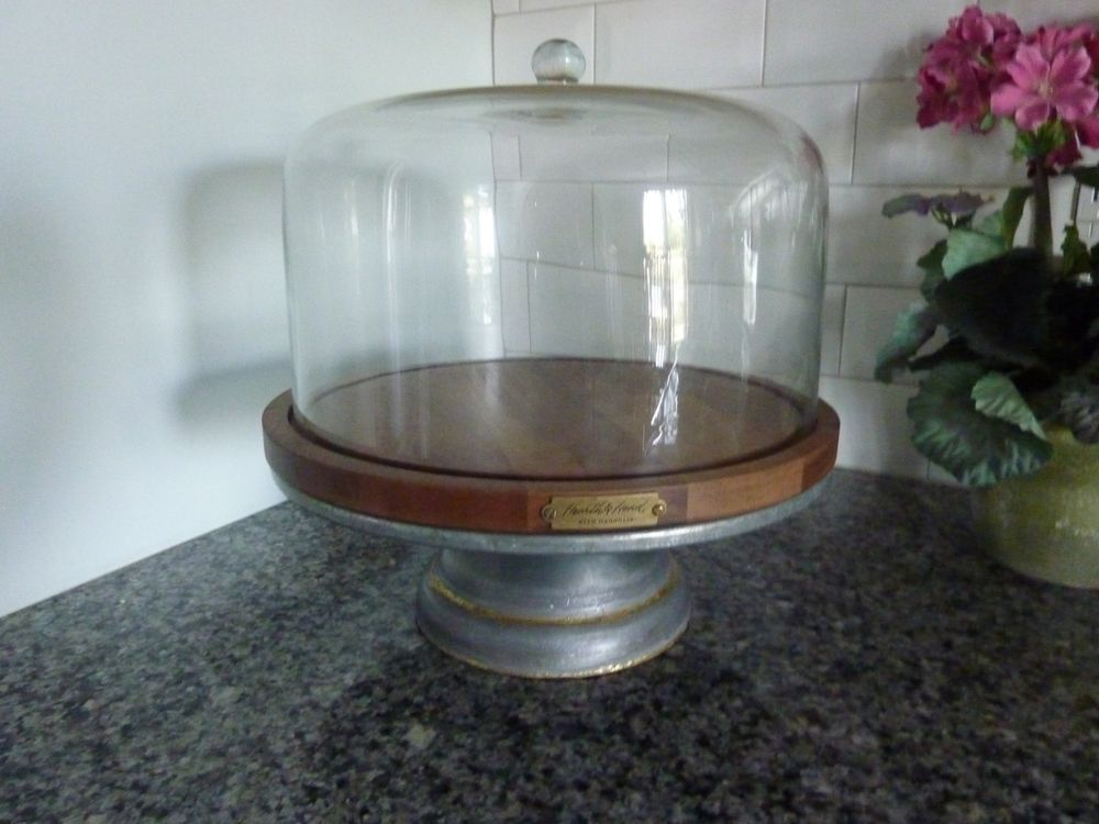Hearth hand with magnolia metalglasswood domed cake