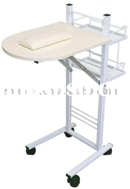 Portable nail manicure table of salon furniture salon for Nail table and chairs