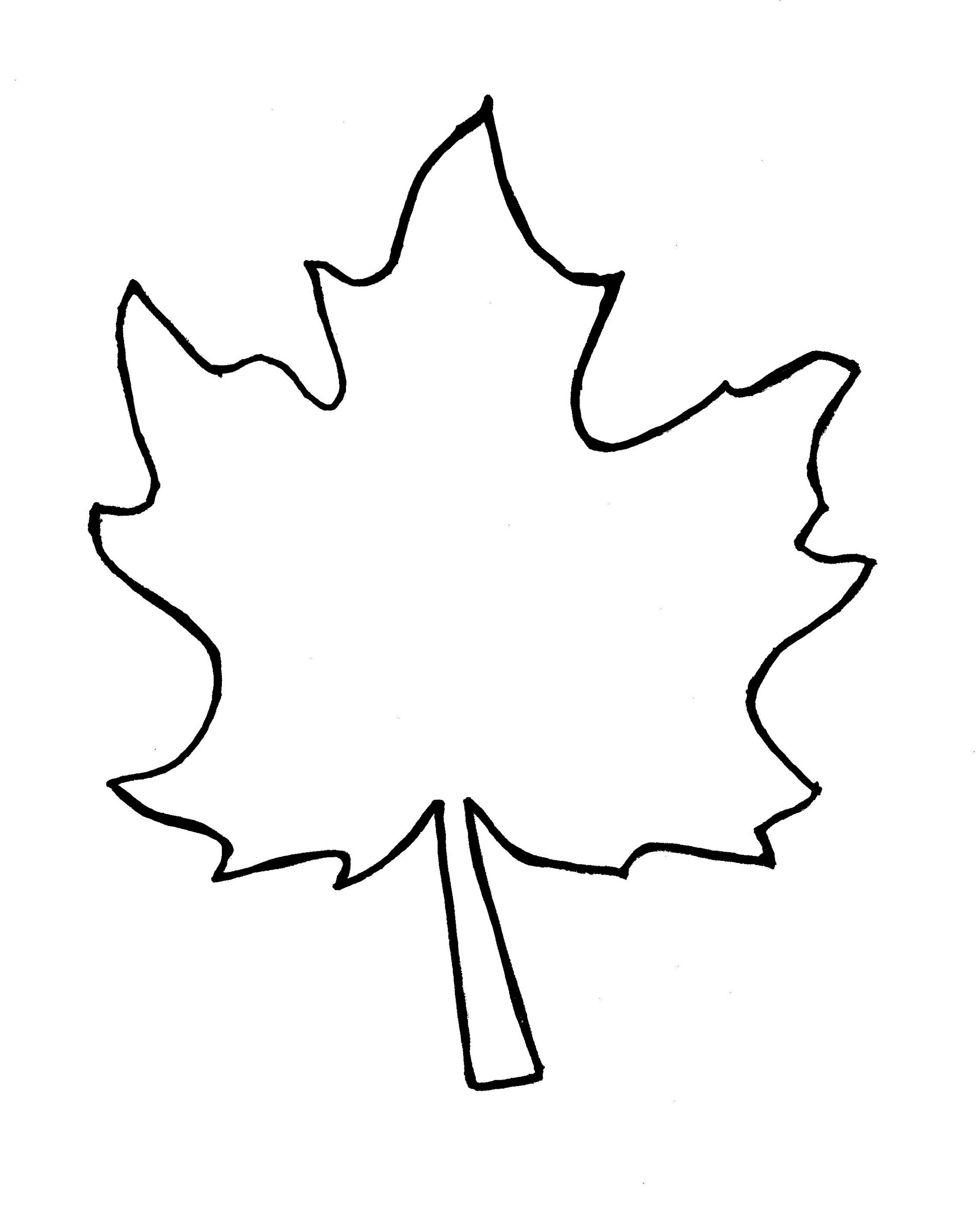 autumn leaf outline template clipart free to use clip art