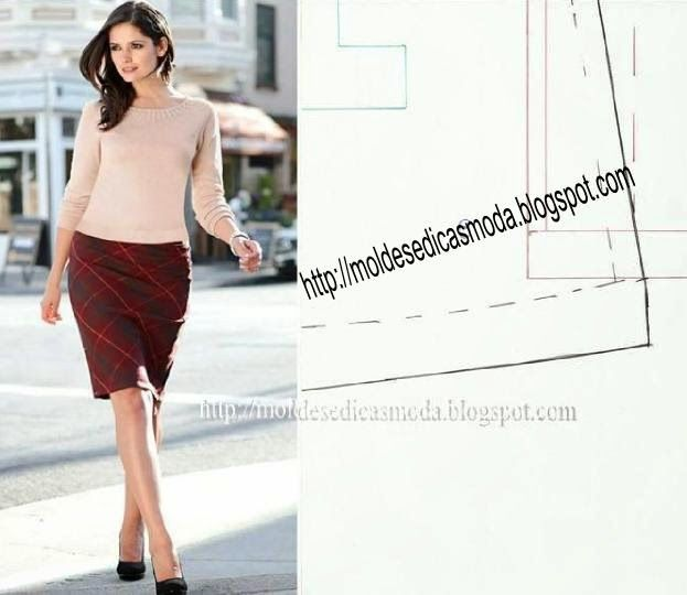 Moldes Moda por Medida SAIA EVASÊ | fashion sewing patterns ...