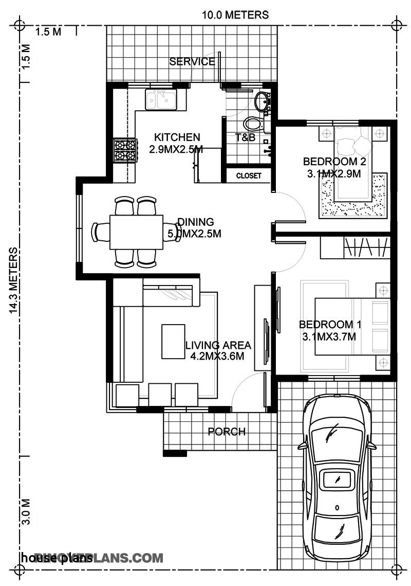 Simple House Floor Plans with Measurements in 2020 One