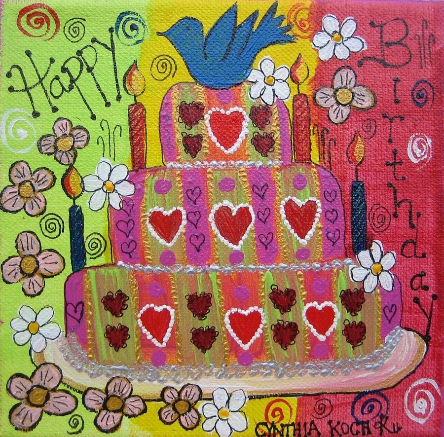 Famous Artists Birthday Cake