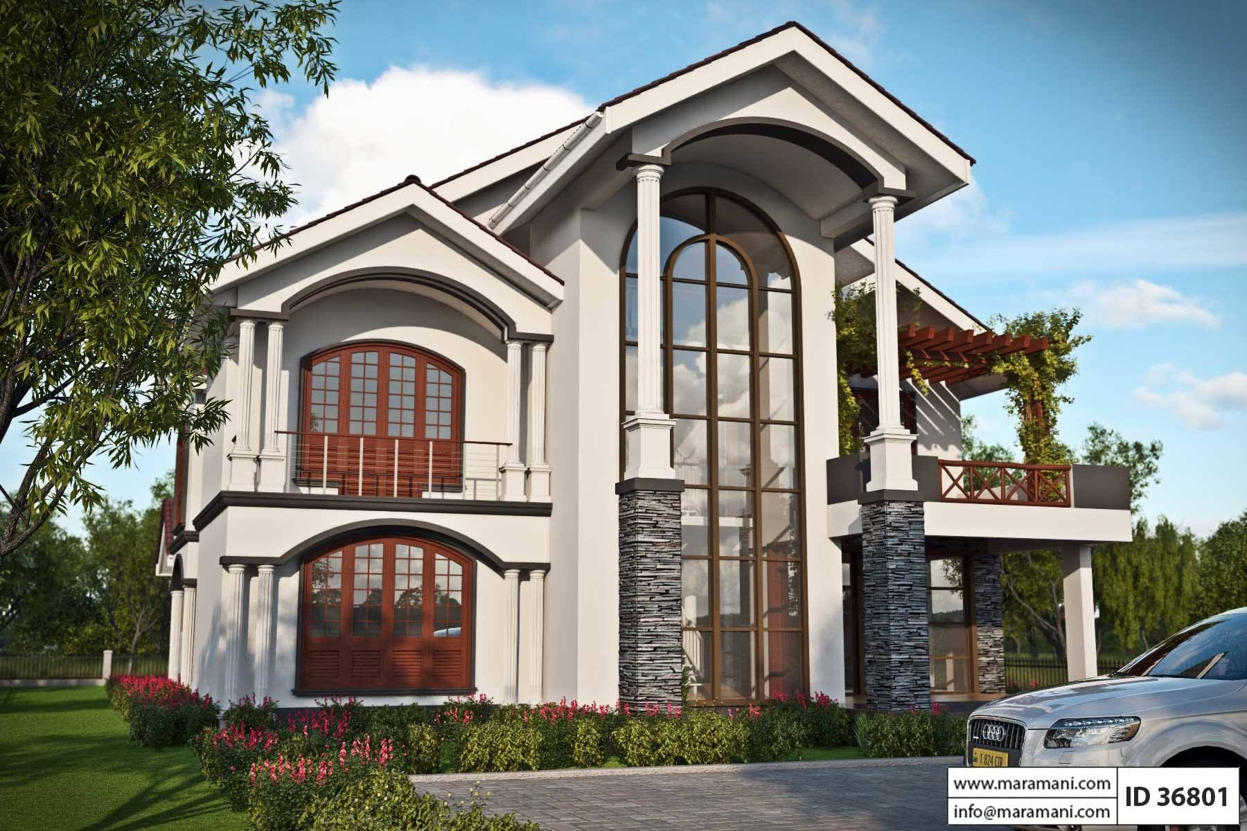 6 Bedroom House Design Id 36801 Architectural House Plans House Plans House Design