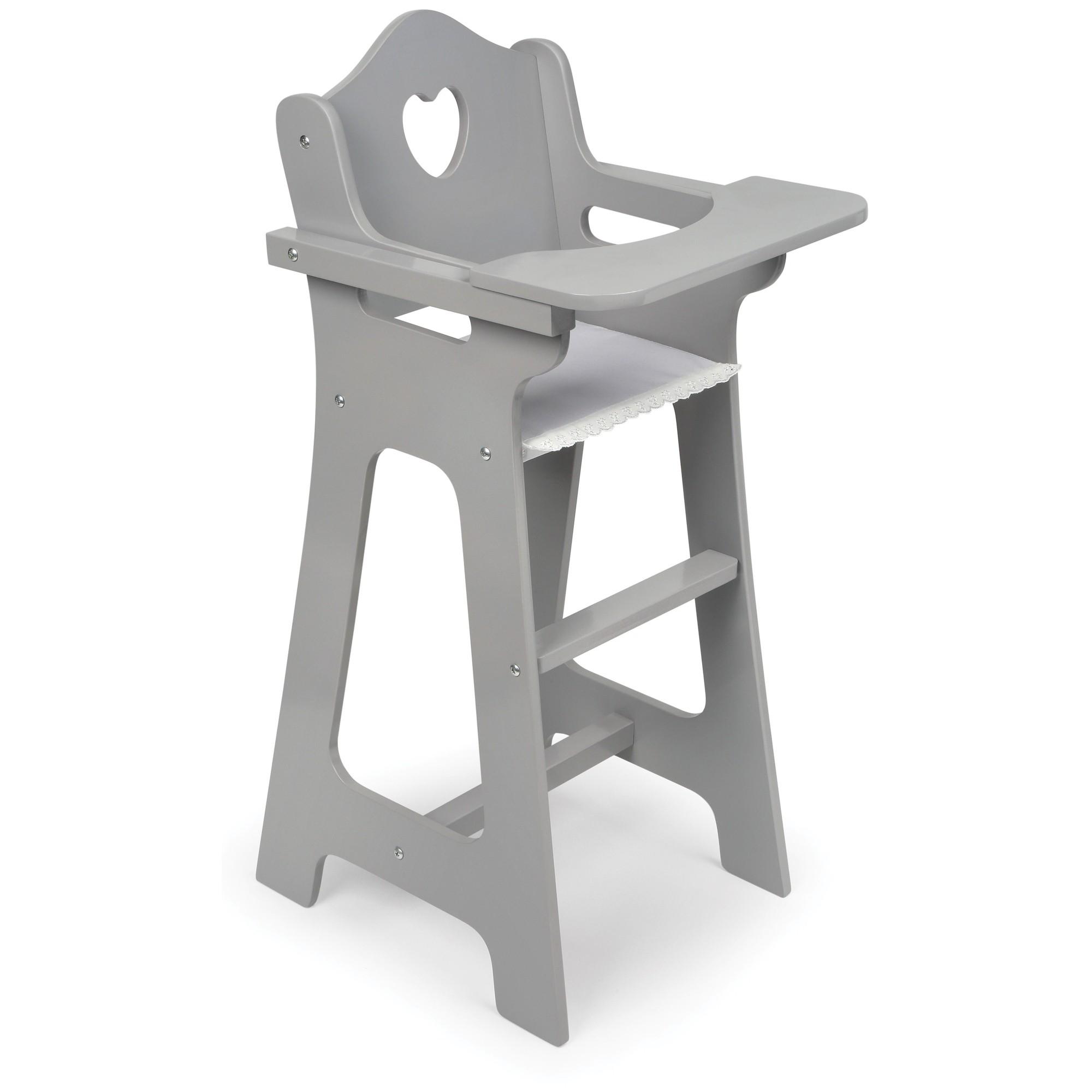 Badger Basket Doll High Chair Executive Gray Doll High Chair