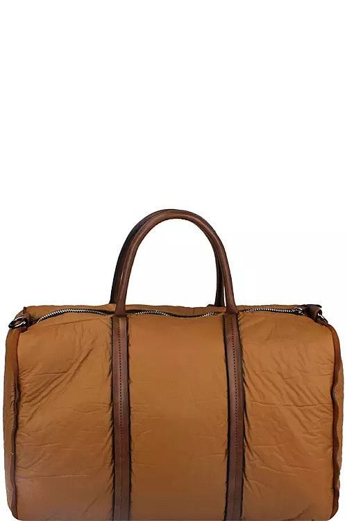 Large Duffel Bag with Long Strap, Brown