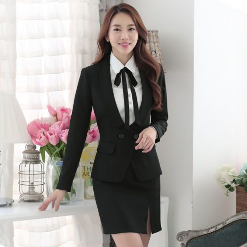 6c2f5d0d1d New-Black-Elegant-Women-Business-Formal-Office-Skirt-Suits-Work -Uniform-Style