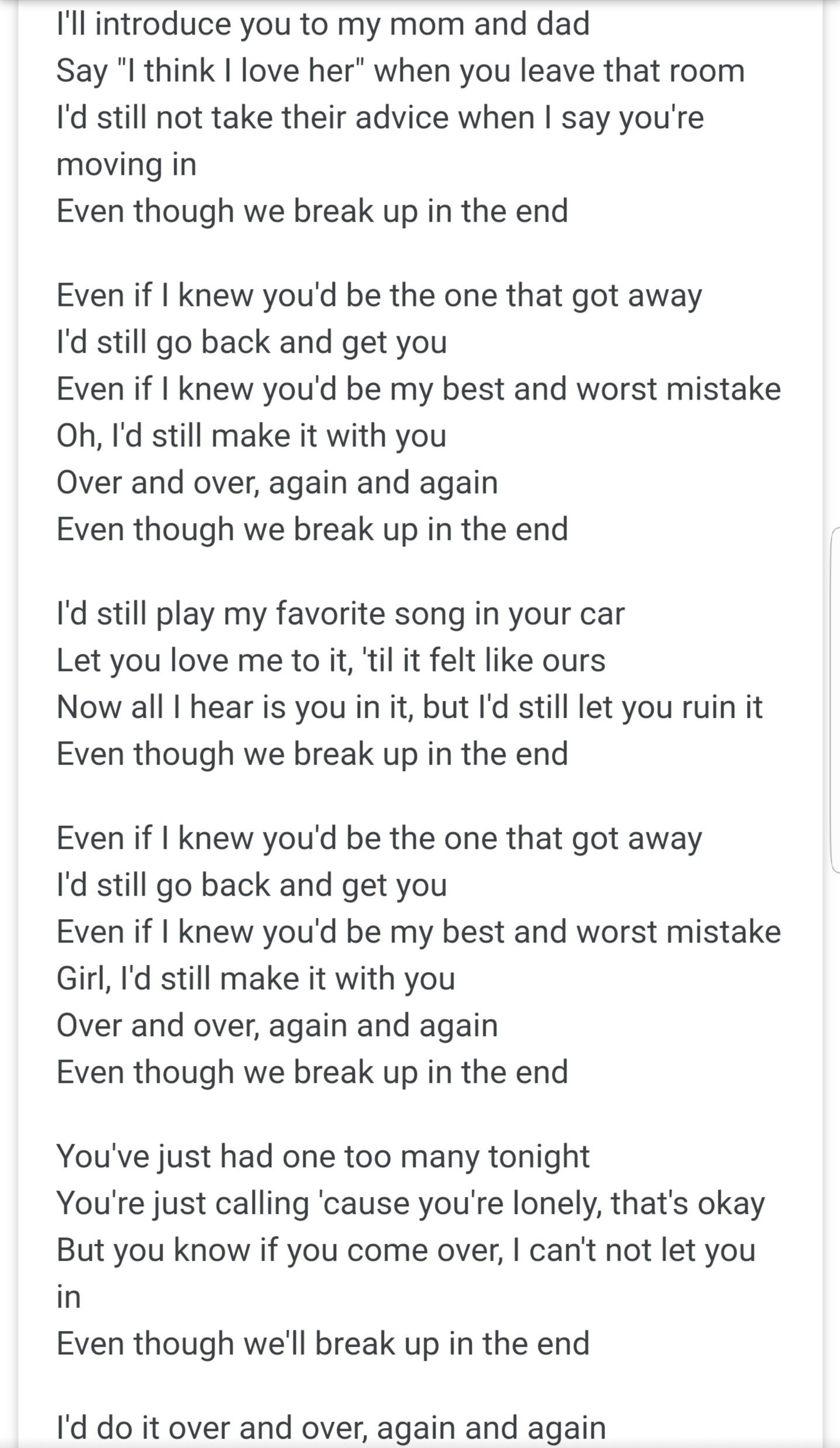Cole Swindell Break Up In The End One Of The Most Heartfealt