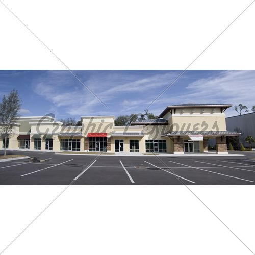 Upscale Strip Mall Pano Strip Mall Shopping Center Architecture Exterior