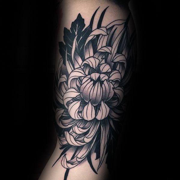 100 Chrysanthemum Tattoo Designs For Men Idees Encre Fleur
