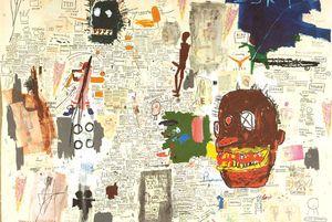 """Jean-Michel Basquiat """"sans titre"""" (1987)"""