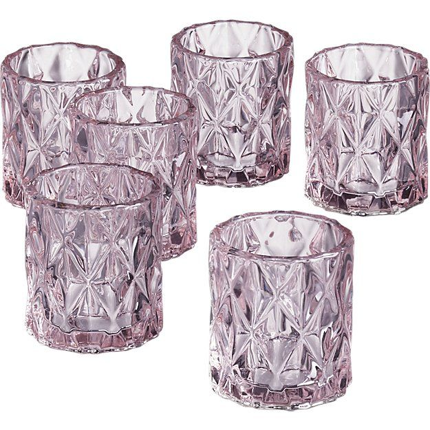 Betty Pink Tea Light Candle Holders
