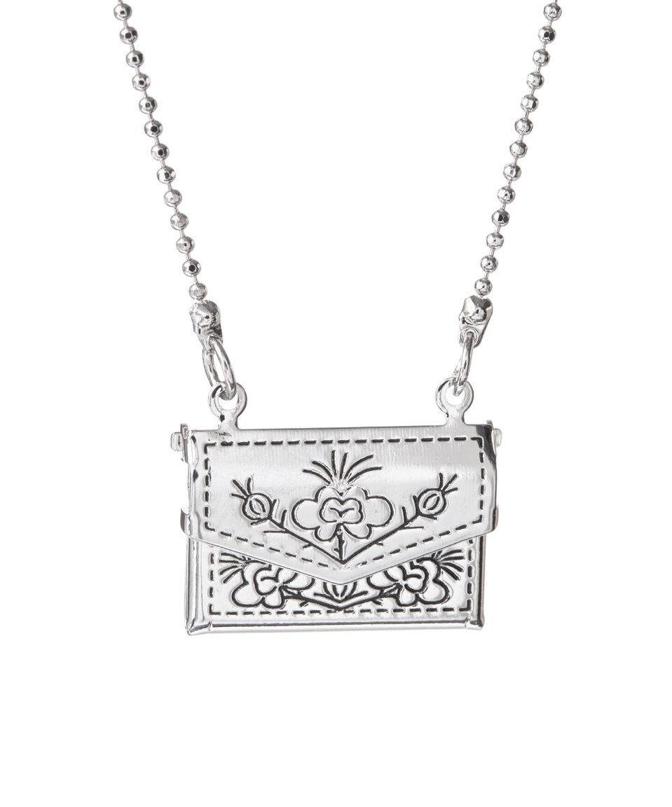 Silvertone letter pendant necklace by bubbly bows zulilyfinds