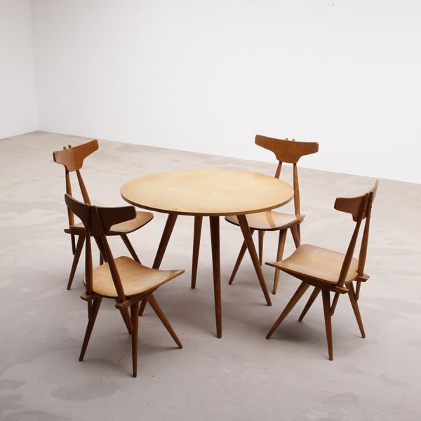 1950s Dining Table Set By Dutch Designer C De Boer Retro