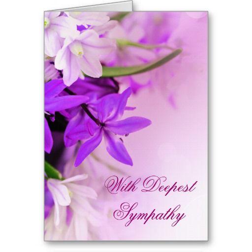 purple sympathy cards | Words For Sympathy Cards