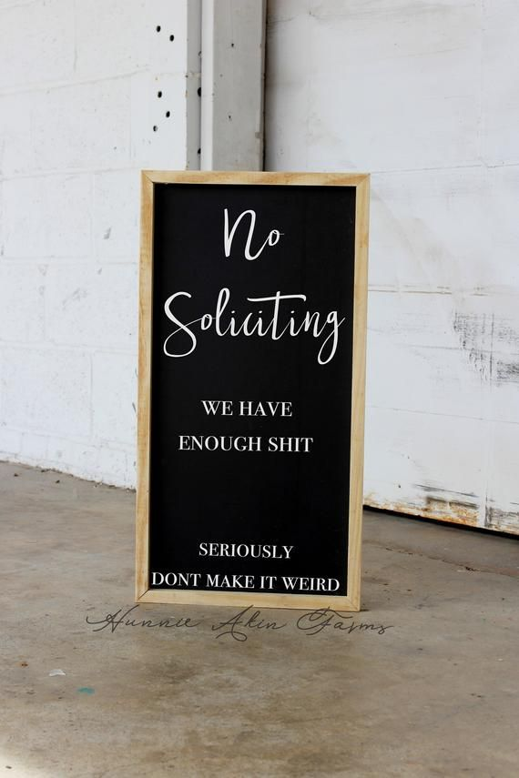 no soliciting wood sign funny front porch decor custom chalkboard sign farmhouse decor industrial modern farmhouse quote sign