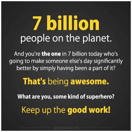 You. Making a difference.