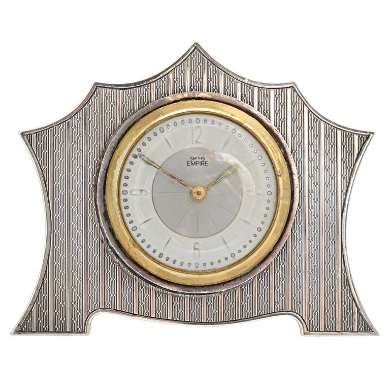 "Art DecoSterling Silver Table Clock England 1930""s Art ..."