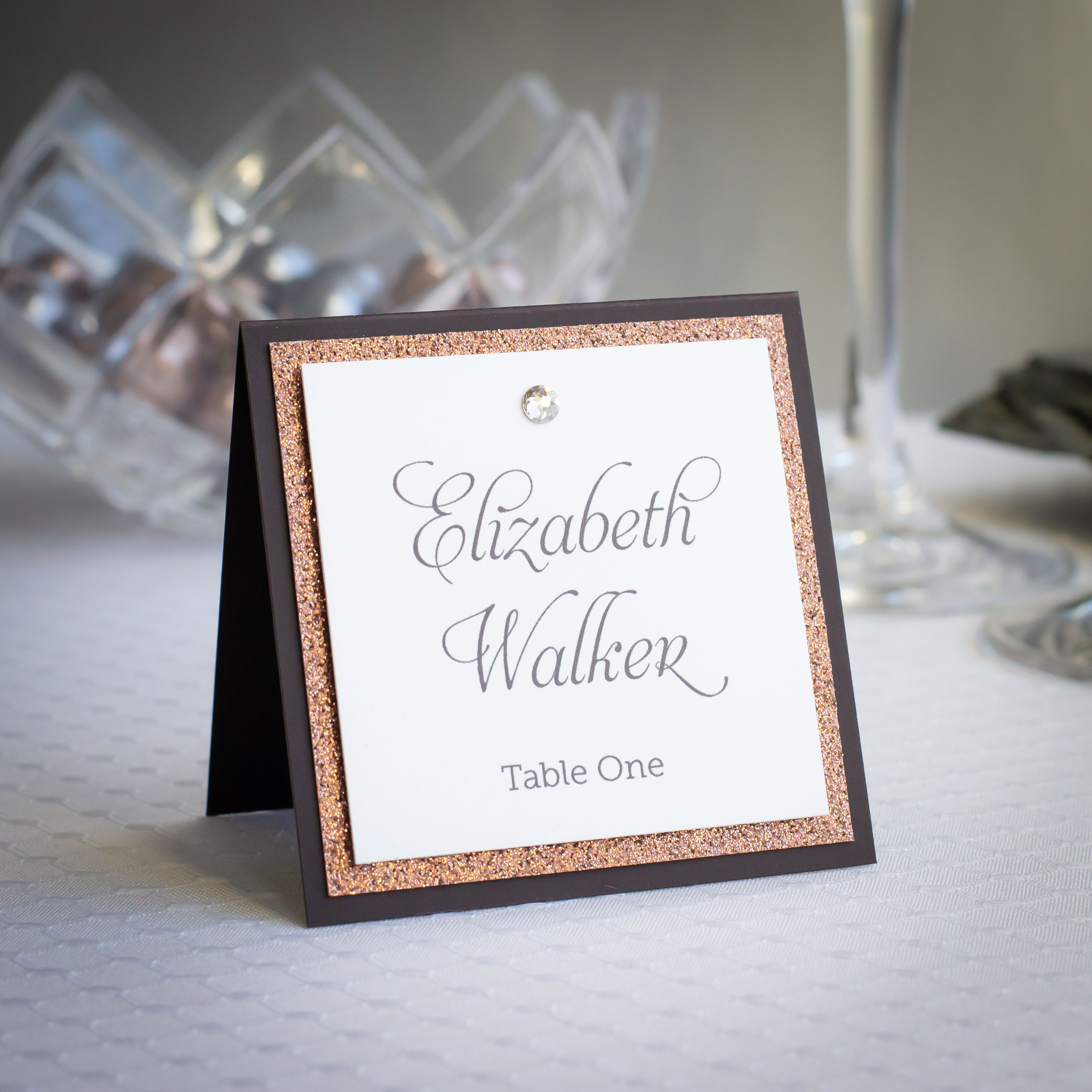 Sparkling Place Cards in 2020 Place cards, Seating cards