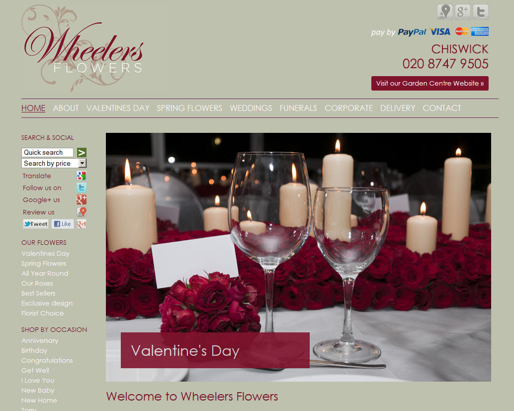 Wheelers florist in turnham green chiswick london w4 this is their explore funeral flowers ecommerce websites and more izmirmasajfo Images