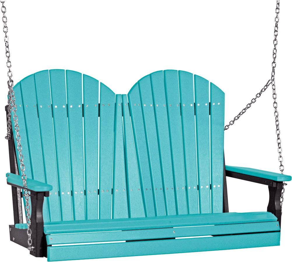 Luxcraft ft recycled plastic adirondack outdoor glider products