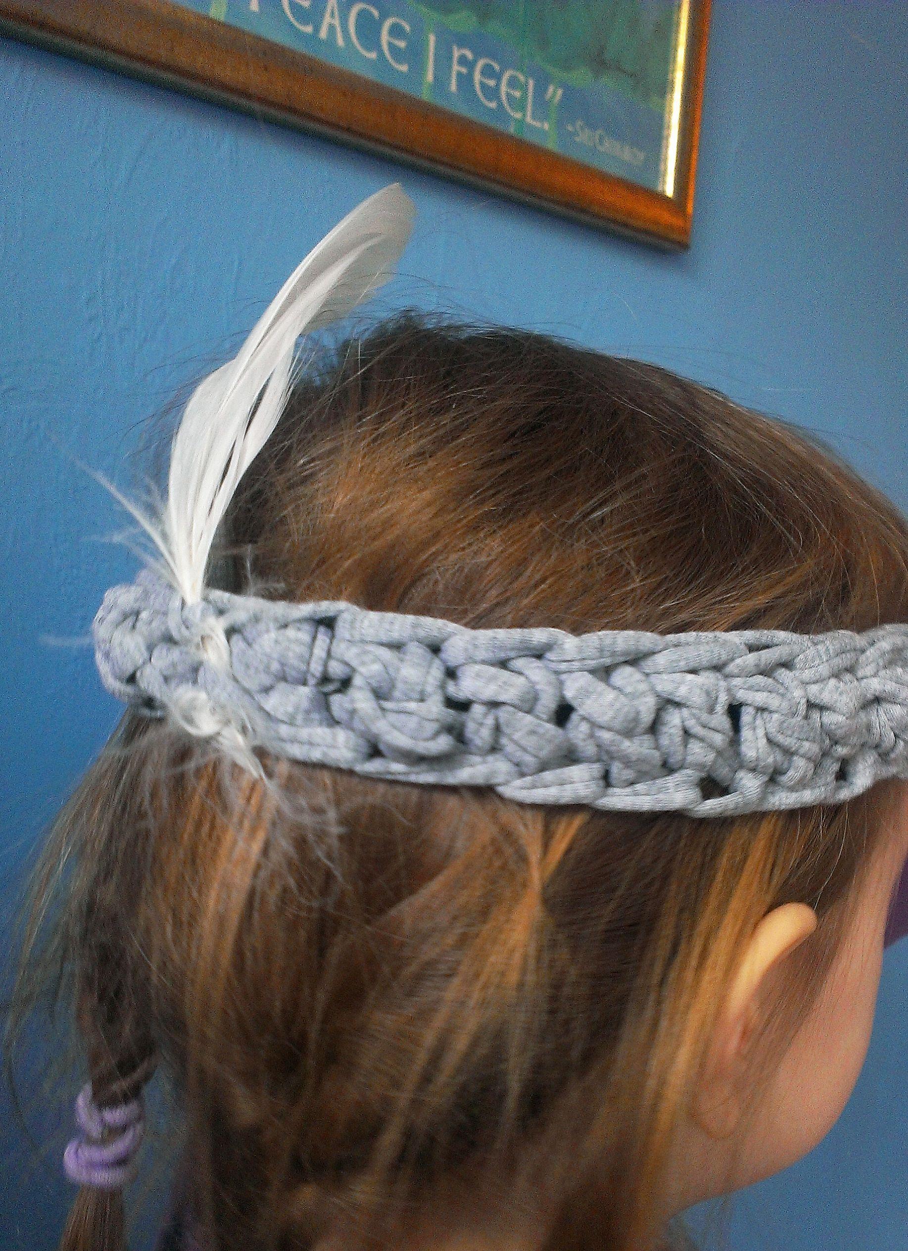 Indianer Stirnband aus T-Shirtgarn häkeln | Pinterest | Indianer ...