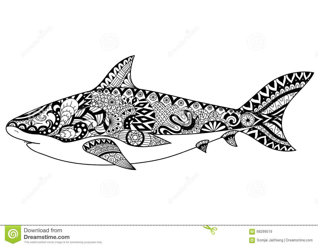 Mandala requin recherche google burn pinterest mandala - Requin dessin ...