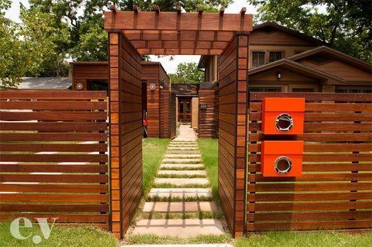 Fun Modern Outdoor Inspiration Austin Style Fences Gates