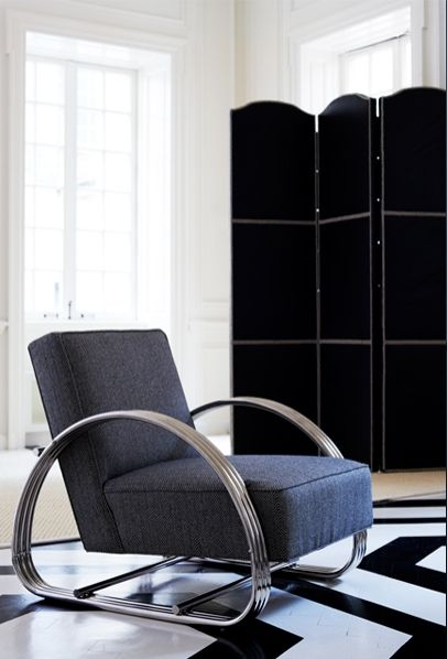 Bauhaus-inspired, Ralph Lauren Home\'s Hudson Street Lounge Chair ...
