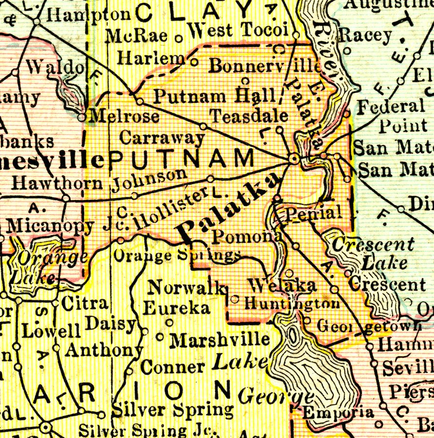 Palatka Florida Map.Putnam County 1911 Georgetown Florida And Vicinity In 2019