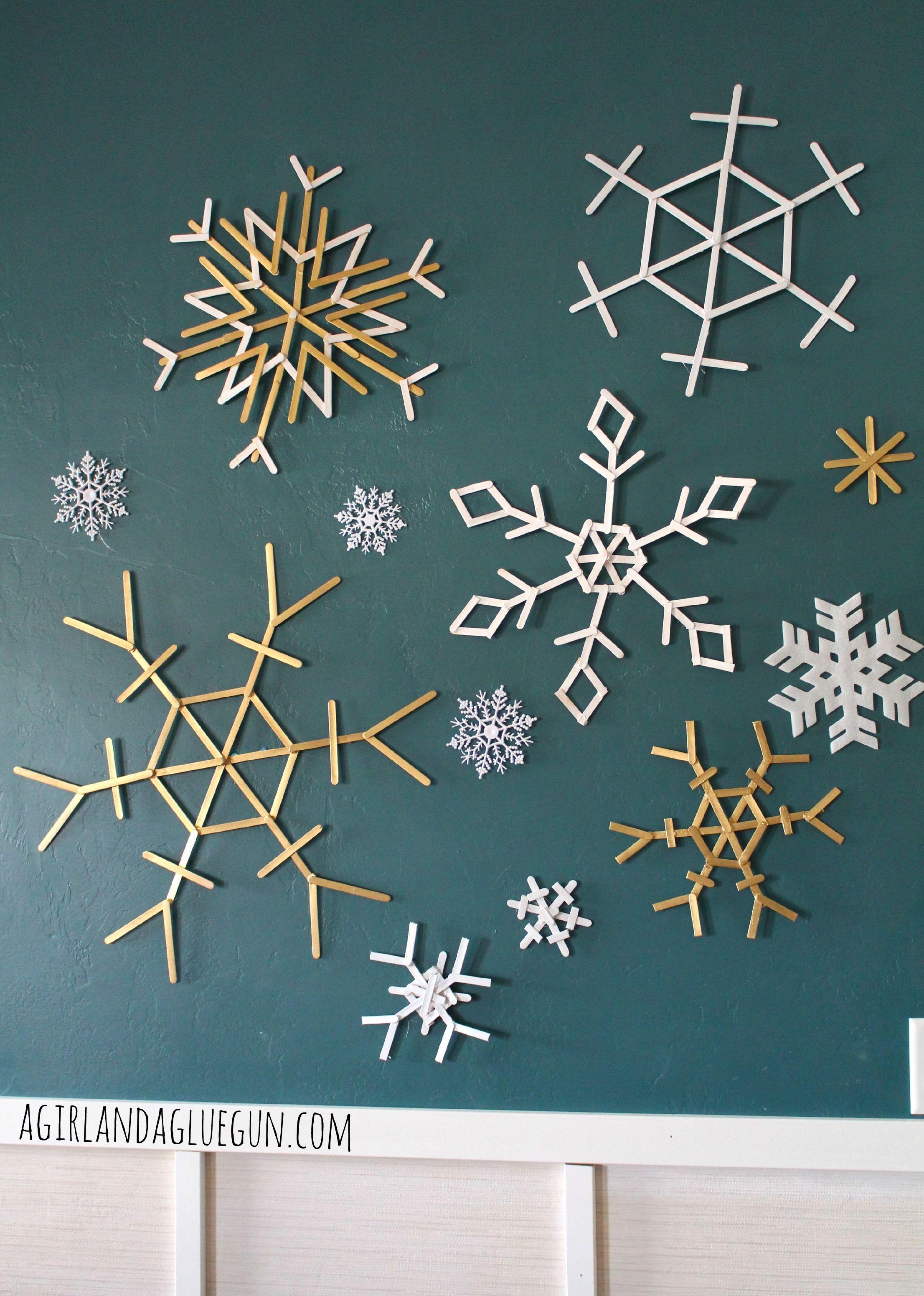 Popsicle Snowflakes christmas crap Pinterest