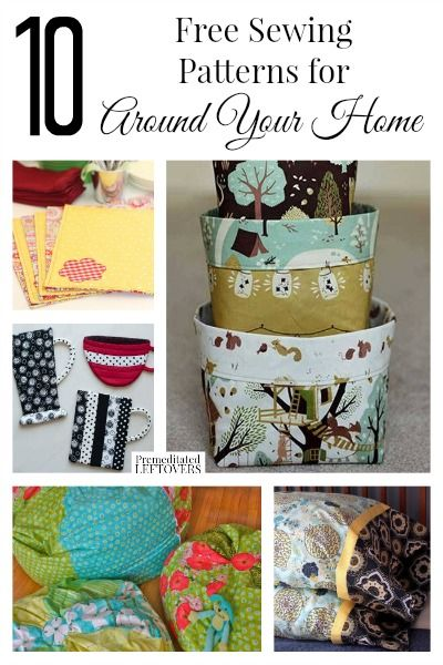 10 Free Home Decor Sewing Patterns | Sewing patterns, Patterns and ...