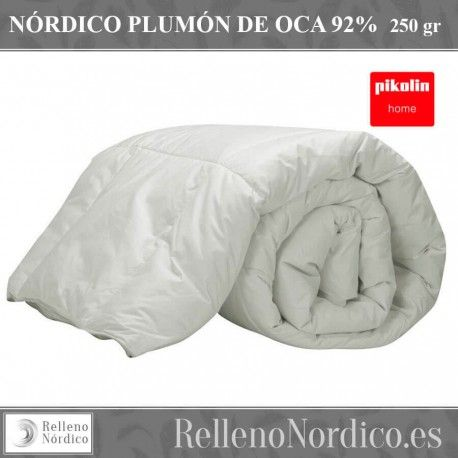 Edredón nórdico gama natural Pikolin Home. 92% plumón y 8% pluma