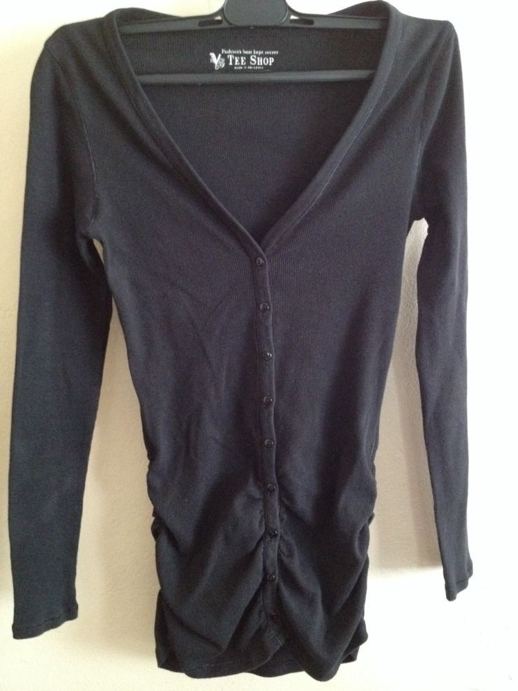 Victoria's Secret Tee Shop Black Cardigan: my first item to