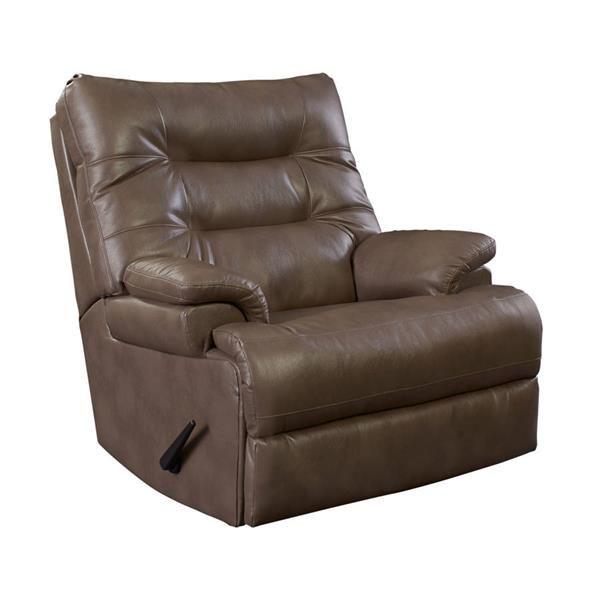 Valor Dove Fabric PU Comfortking Rocker Recliner   Lane Furniture ...