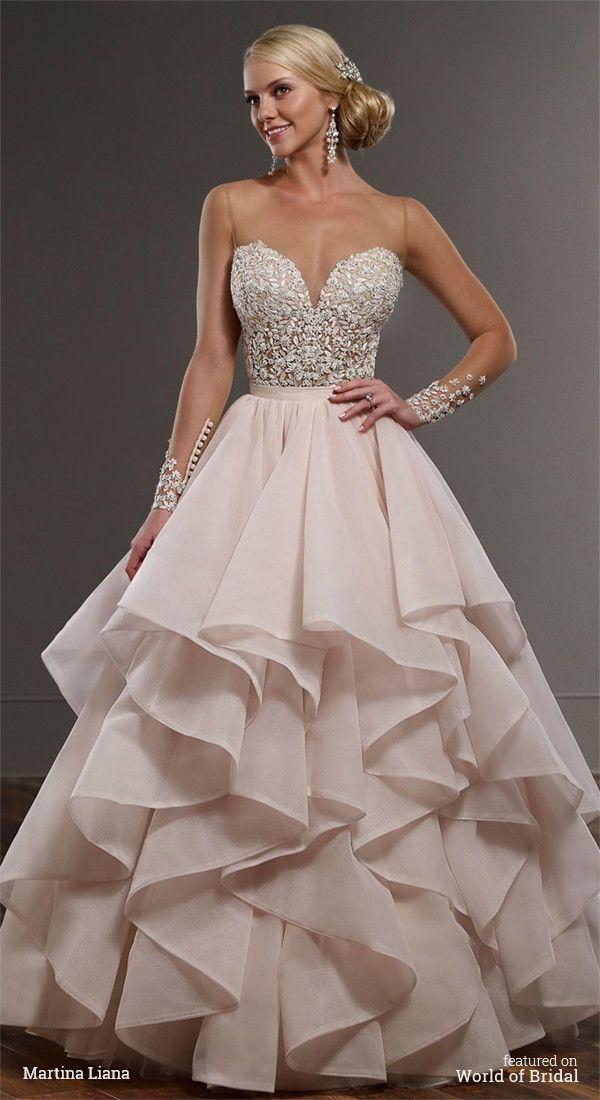 Martina liana spring 2016 wedding dresses modern colors for How much are martina liana wedding dresses